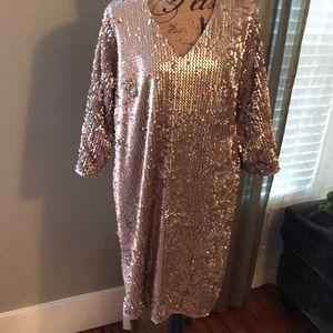 Gorgeous mauve sequined dress